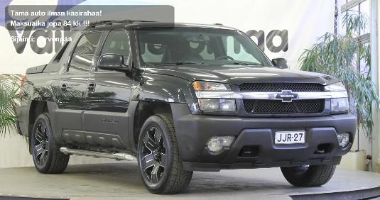 Chevrolet Avalanche, Vaihtoauto
