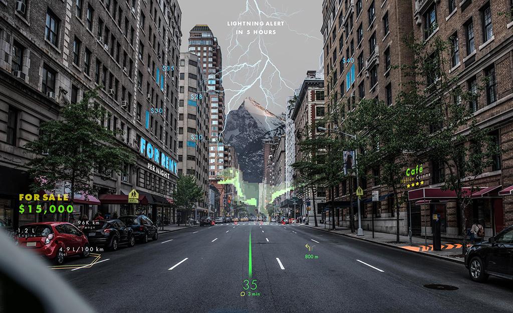 Lisätty todellisuus tulee autoihin – tältä näyttää koko tuulilasin AR-heijastusnäyttö