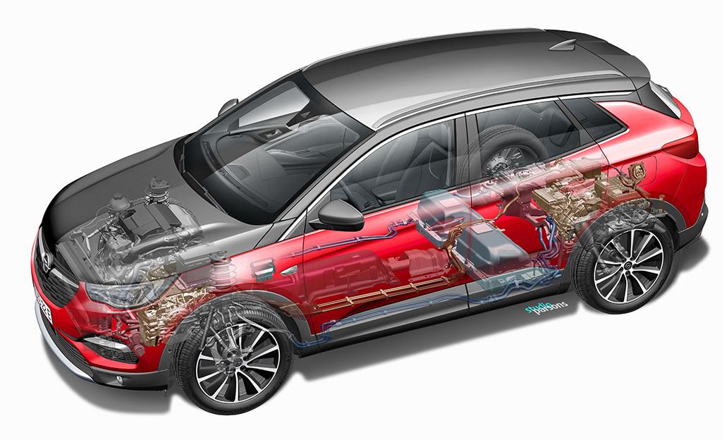 Opel Grandland X PHEV sai hinnan – kaksi sähkömoottoria ja 52 kilometrin toimintamatka