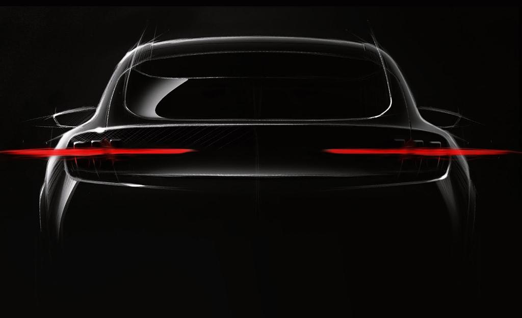 Ensimmäinen teaserkuva julki – Fordilta Mustangin inspiroima täyssähköauto