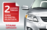 Titaani-vaihtoauto: takuulla luotettava ja turvallinen