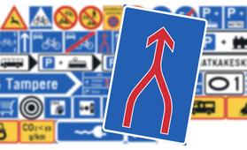 """Suomalaisen autoilijan kauhu vai helpotus? Uusi """"ajokaistojen yhdistyminen""""-liikennemerkki pakottaa vetoketjuperiaatteeseen"""