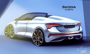 Ostaisitko Škoda Scalan avokattoisena? Tältä spider-malli voisi näyttää