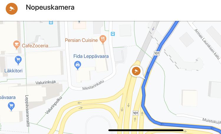 Google Mapsin uusi ominaisuus – näin tarkistat peltipoliisien sijainnit